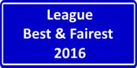 2016 League Best & Fairest
