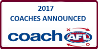 2017 Coaches announced