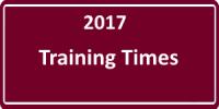 2017 Training Times